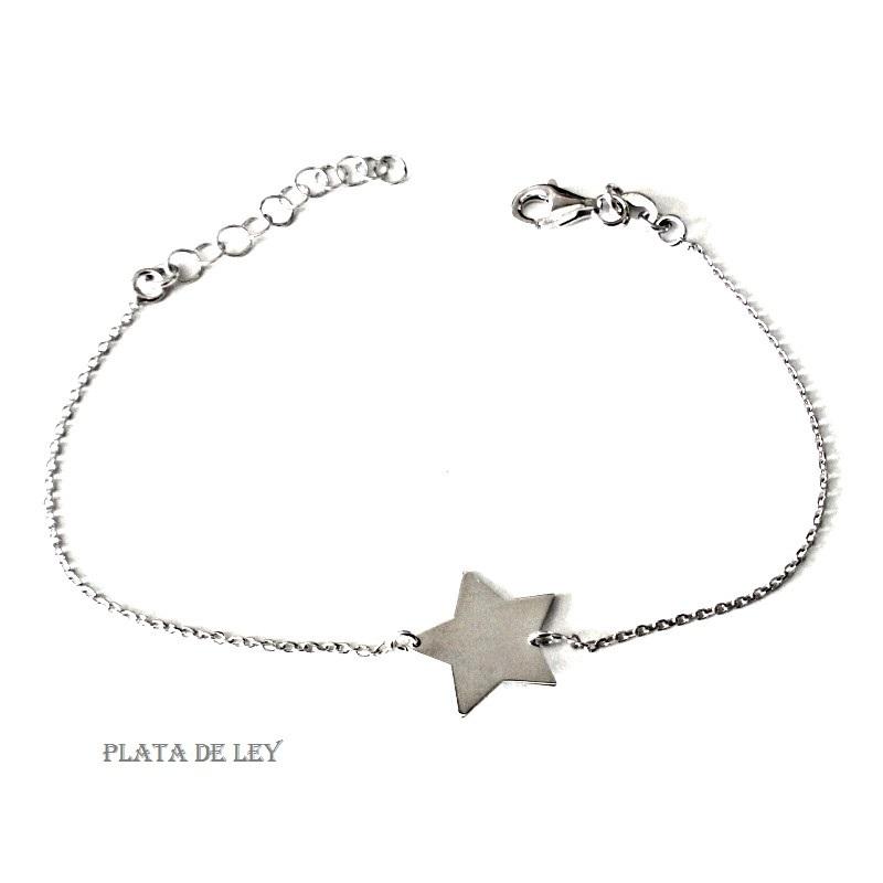 más fotos 421c6 107fb Pulsera con Estrella, Plata de Ley