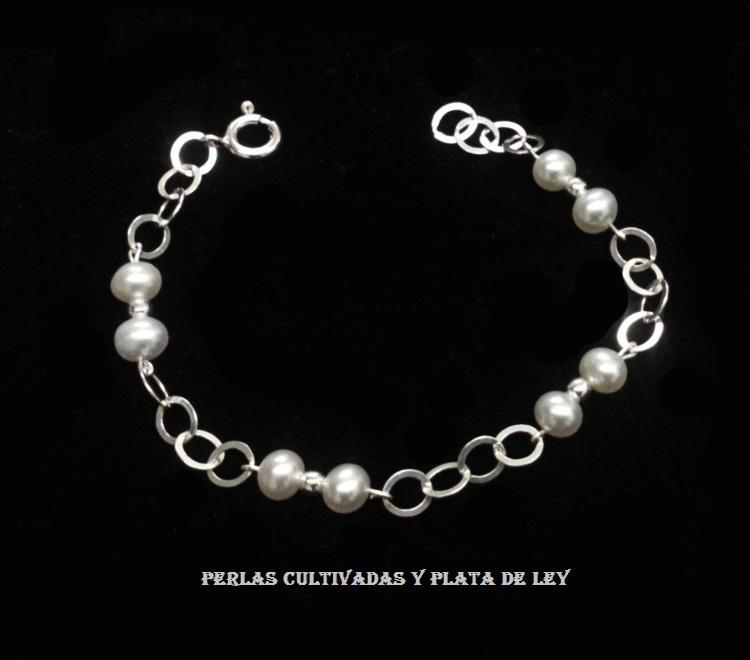 660fad6d7683 Pulsera de Perlas cultivadas y Plata de Ley 925 - Joyas y diseños Carel