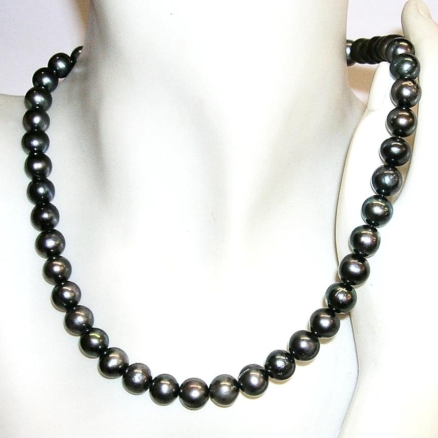 f07e8c78d9e3 Collar de Perlas Cultivadas Grises y Plata de Ley - Joyas y diseños ...