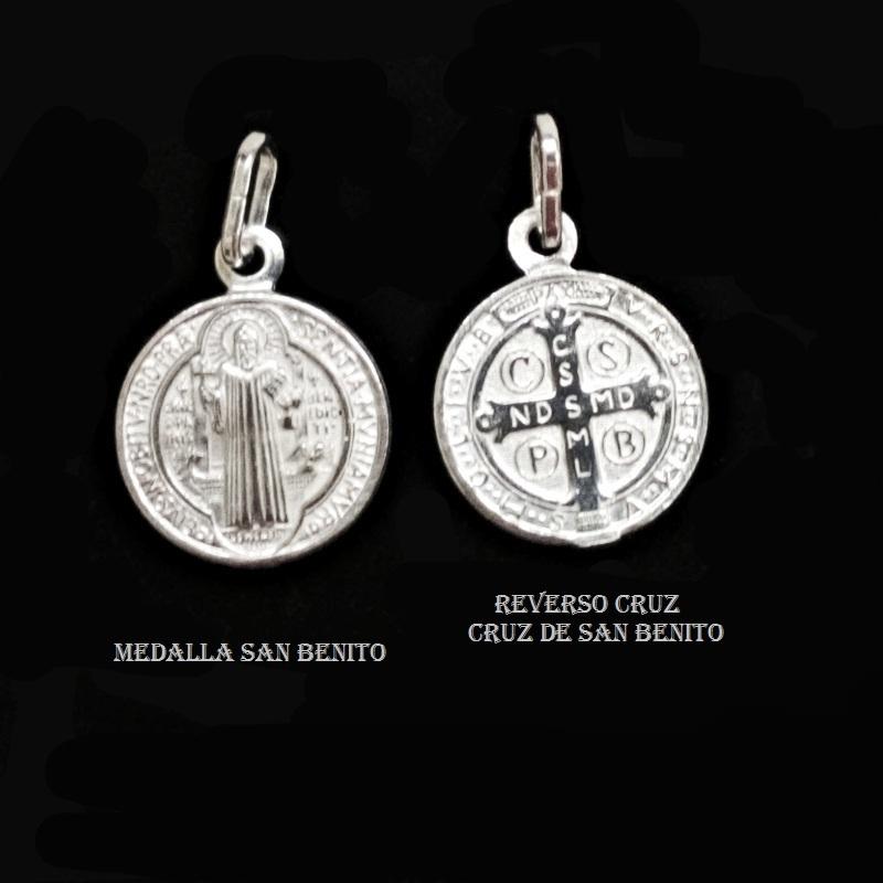 f4d8d04407f Medalla de San Benito 15 mm Plata de Ley y Estuche - Joyas y diseños ...