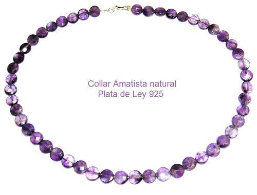 322cbf513a59 Collar de Amatista natural 1ª calidad discos facetados y Plata